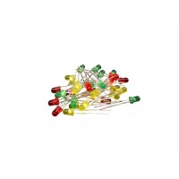 LED set 3mm - Green - Red - Yellow - 30 pieces - Diffuse