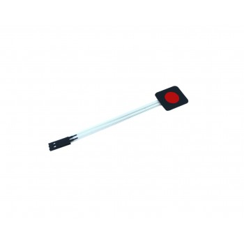 Membrane Keypad - 1 Button - Red