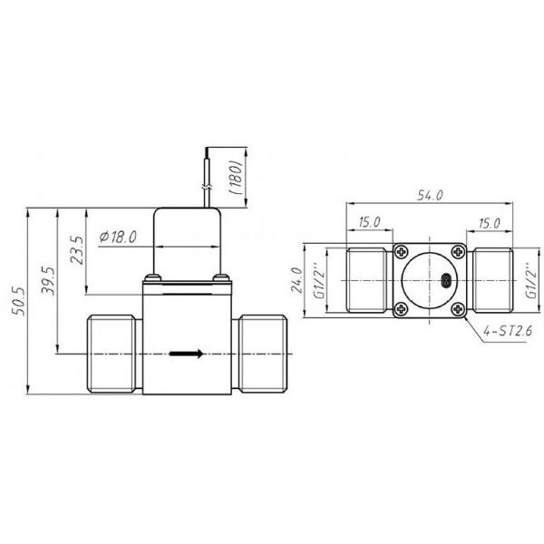 Solenoid Valve - Latching - 5V - Brass - G1/2