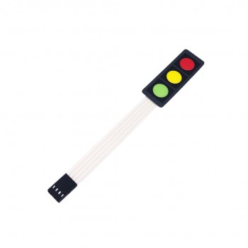 Membrane Keypad - 3 Buttons - Red-Yellow-Green