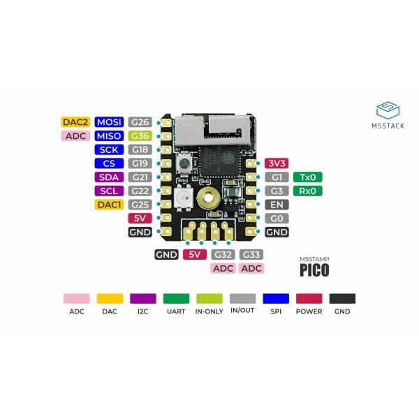 M5STACK M5Stamp Pico Mate - ESP32-PICO-D4