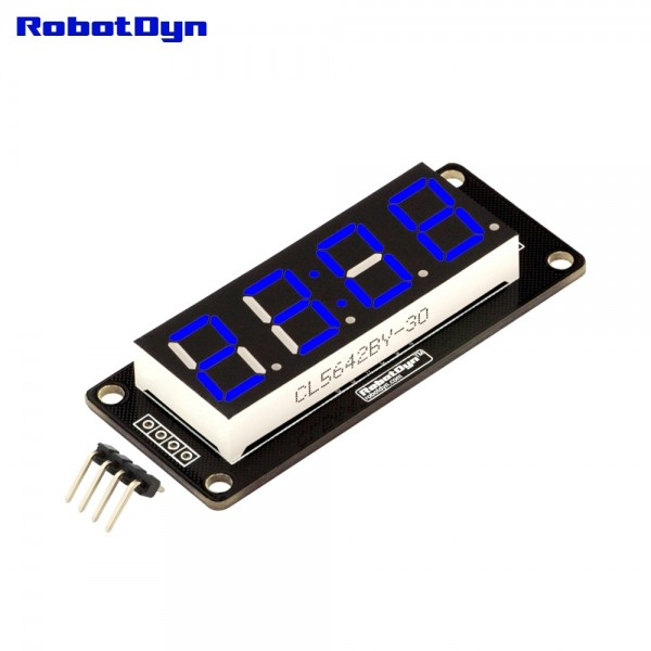 RobotDyn Segment Display Module - 4 Character- Clock - Blue - TM1637