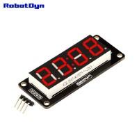 RobotDyn Segment Display Module - 4 Character - Clock - Red - TM1637