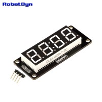 RobotDyn Segment Display Module - 4 Character - Clock - White - TM1637