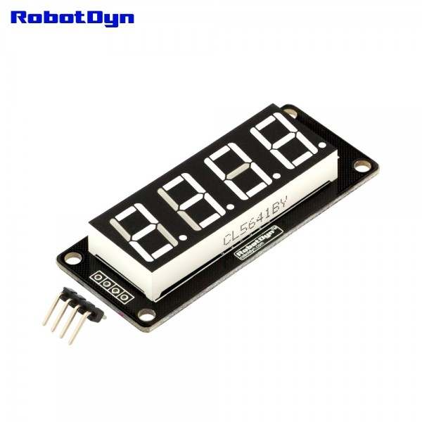 RobotDyn Segment Display Module - 4 Character - Decimal - White - TM1637
