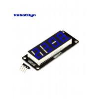 RobotDyn Segment Display Module - 4 Character - Decimal - Blue - TM1637