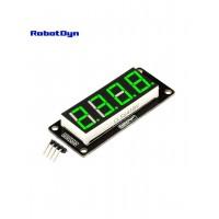 RobotDyn Segment Display Module - 4 Character - Decimal - Green - TM1637