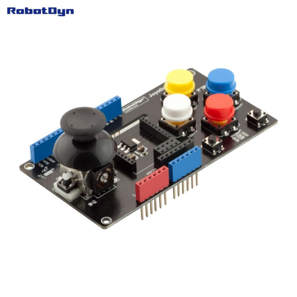 RobotDyn Joystick Shield met NRF24 en Xbee adapter
