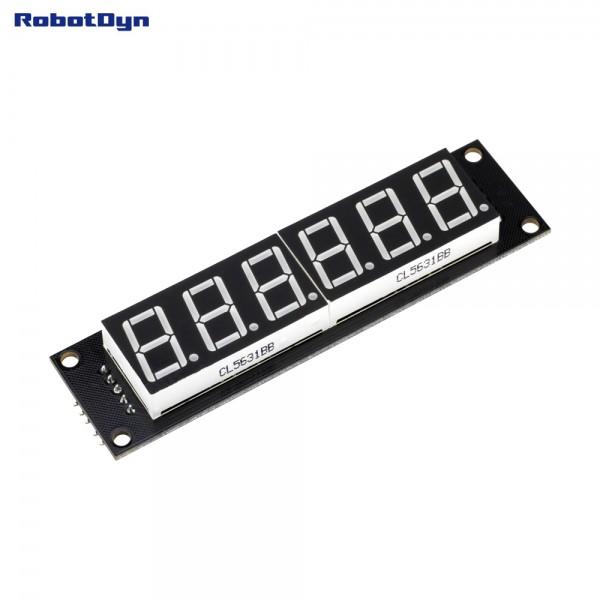 RobotDyn Segment Display Module - 6 Character - Decimal - Yellow - 74HC595