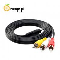Orange Pi Audio Video 3.5mm to RCA cable