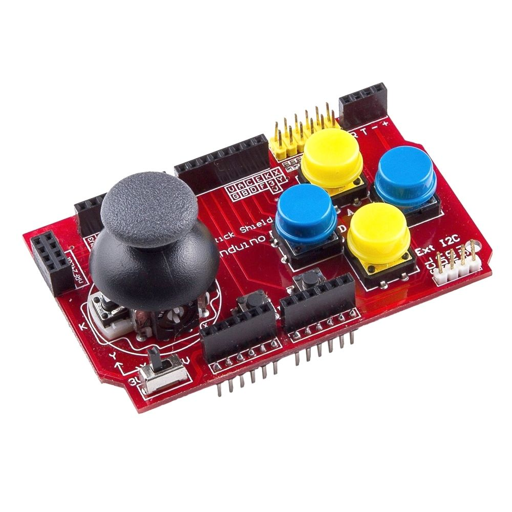 Joystick Shield met NRF24 en Bluetooth adapter