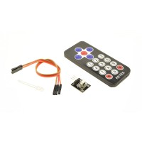 IR sensor module with remote and battery - With IR LED