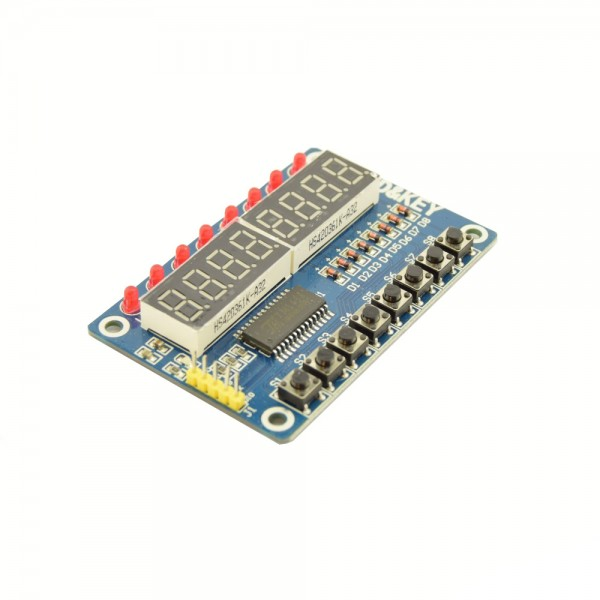 TM1638 LED Segment Display with LEDs and Buttons