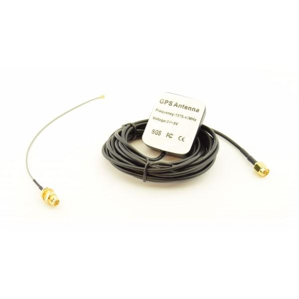 GPS Antenne met SMA connector - 3m - Incl. SMA naar uFL adapter