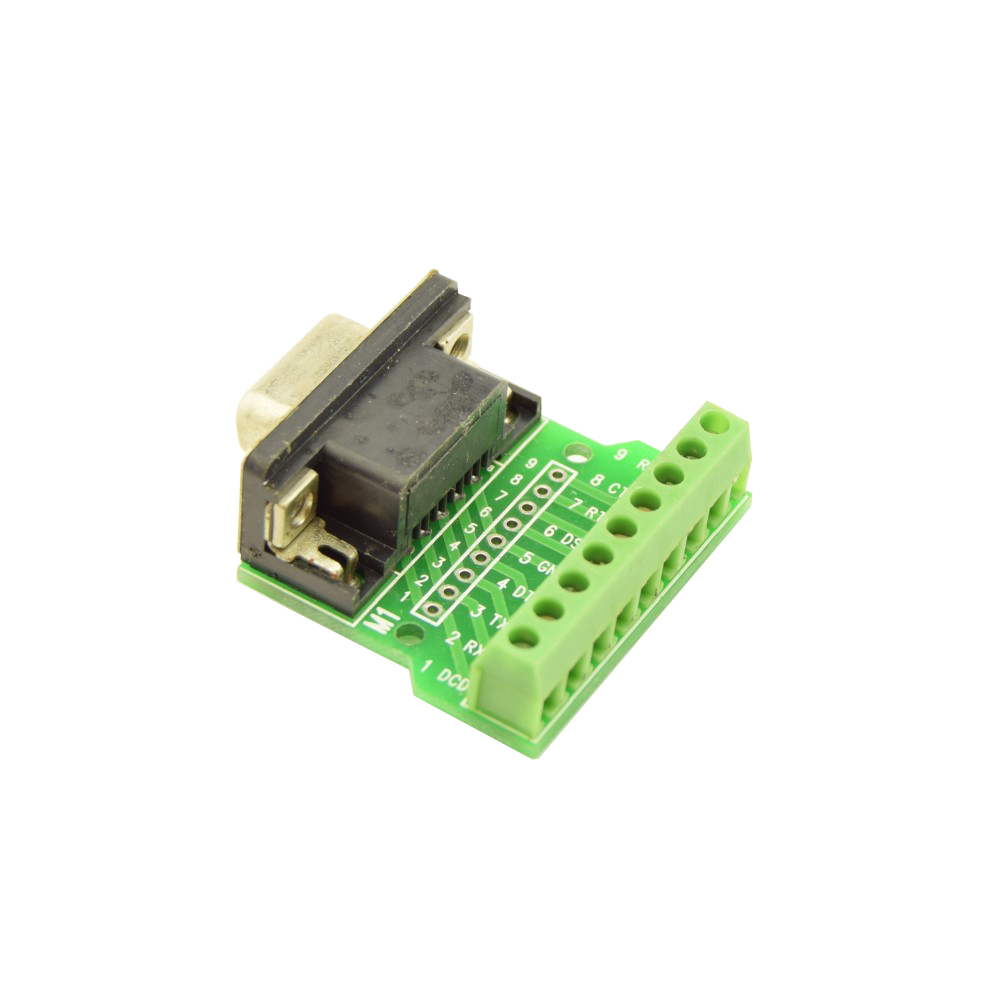 DB9 RS232 Connector Breakout Board Female