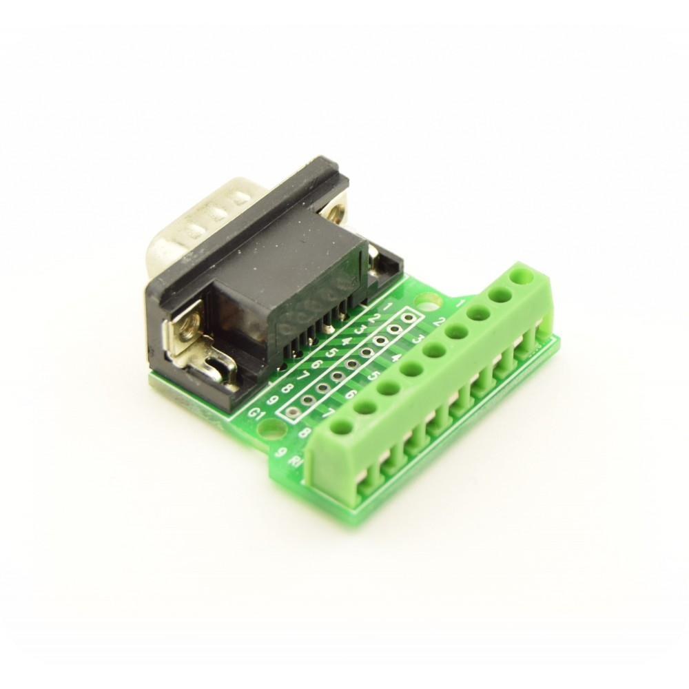 DB9 RS232 Connector Breakout Board Male