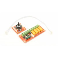 4-Kanaals Audio Selector Board - With Screw Terminals