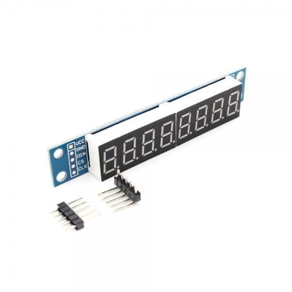 Segmenten Display Module - 8 Karakters - Decimalen - Rood - MAX7219