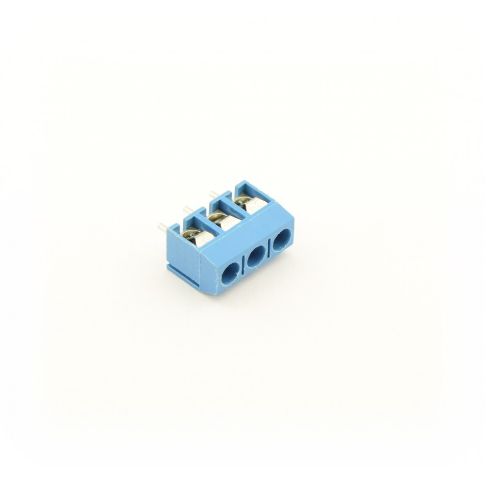 3 Pin Screw Terminal Block Connector 5mm Distance- Blue - 3PTERMB