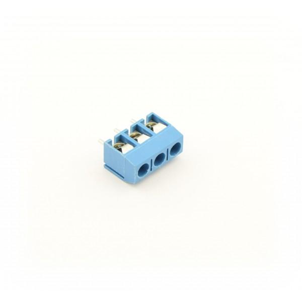 3 Pin Schroef Terminal Block Connector 5mm Afstand - Blauw