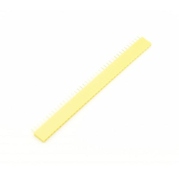 40 Pins header Female - Geel