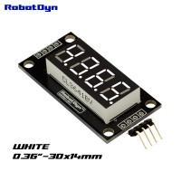 RobotDyn Segment Display Module - 4 Channel - Decimal - White - TM1637 - Mini