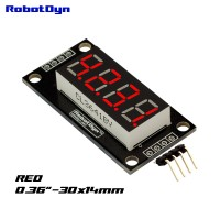 RobotDyn Segment Display Module - 4 Character - Decimal - Red - TM1637 - Mini