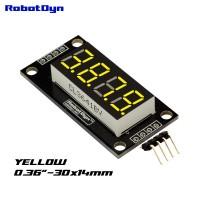 RobotDyn Segment Display Module - 4 Character - Decimal - Yellow - TM1637 - Mini