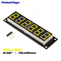 RobotDyn Segment Display Module - 6 Character - Decimal - Yellow - TM1637