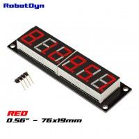 RobotDyn Segment Display Module - 6 Character - Decimal - Red - TM1637