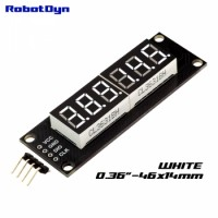 RobotDyn Segment Display Module - 6 Character - Decimal - White - TM1637 - Mini
