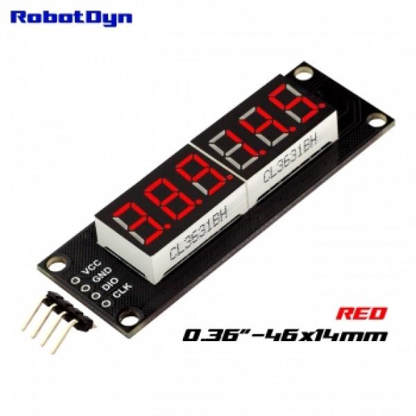 RobotDyn Segment Display Module - 6 Character - Decimal - Red - TM1637 - Mini