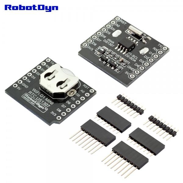 RobotDyn RTC DS1307 Shield voor D1 Mini incl. Batterij