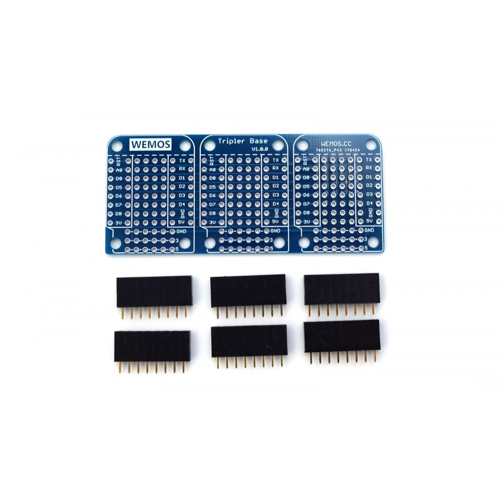 Wemos Triple Base voor D1 Mini