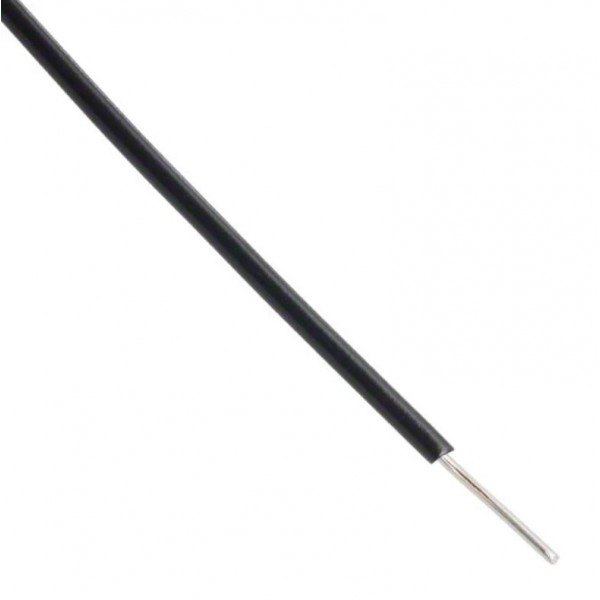 Alpha Wire - Single core - Solid - Ø1.5mm 0.33mm2 - Black - 1m