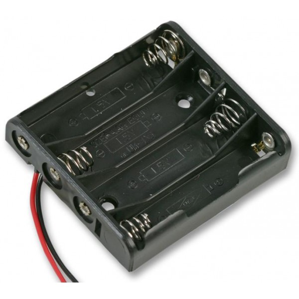 4x AAA Battery holder with loose wires