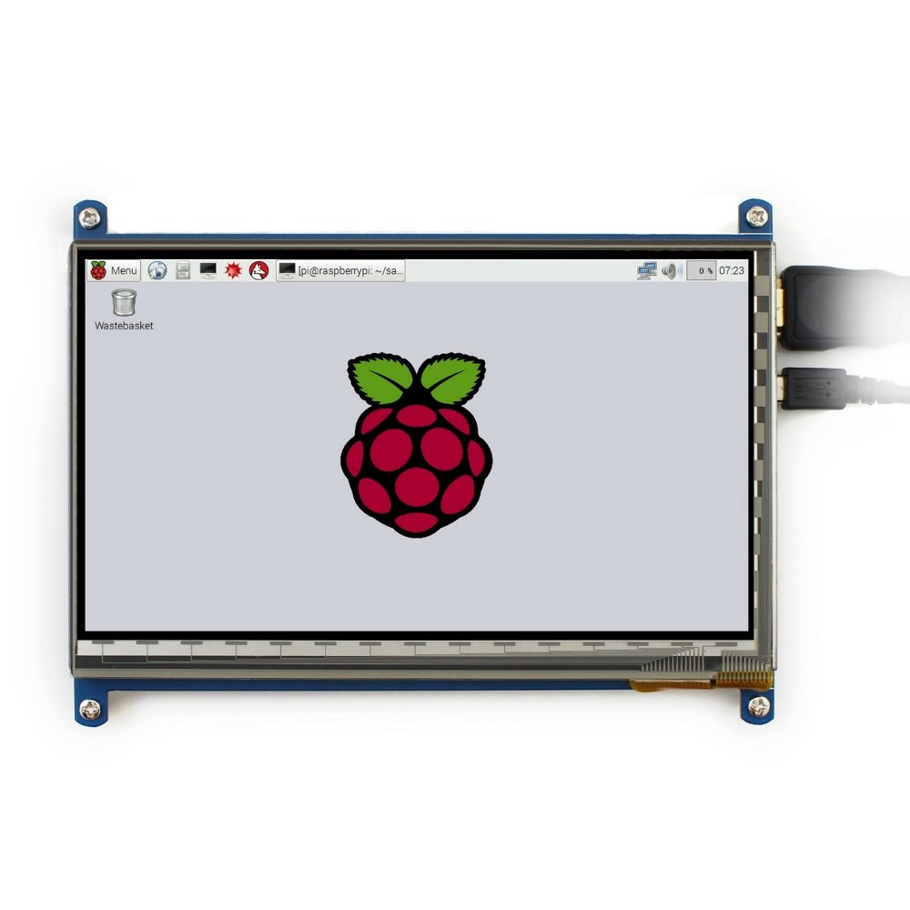 7 inch LCD Display 1024*600 pixels met Touchscreen - Raspberry Pi Compatible