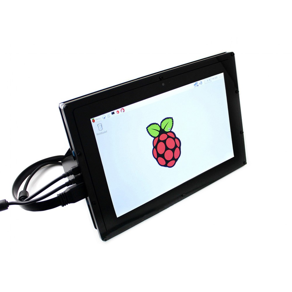 Waveshare 10.1 inch IPS TFT-LCD Display 1280*800 pixels met Touchscreen en Behuizing - Raspberry Pi Compatible
