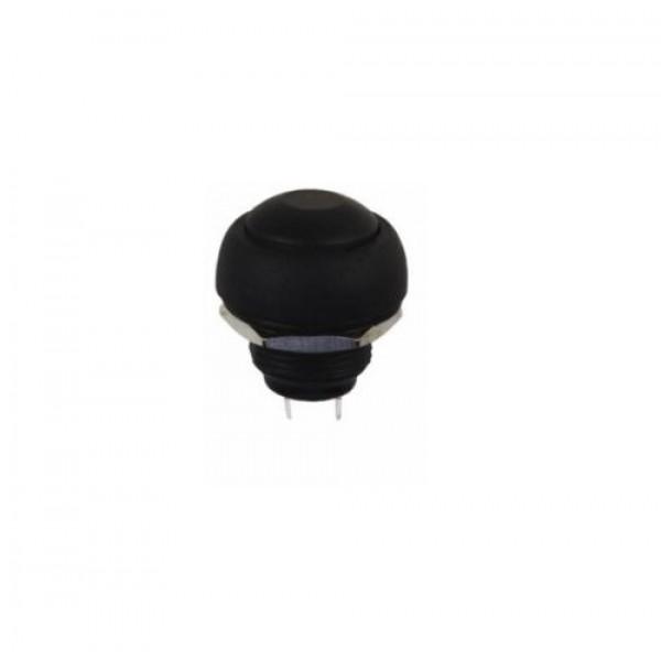 Black Push button 12mm - Reset - PBS-33B