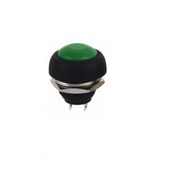 Green Push button 12mm - Reset - PBS-33B