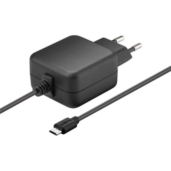 Goobay 71889 Micro USB Voeding - 5V 2.5A - Zwart