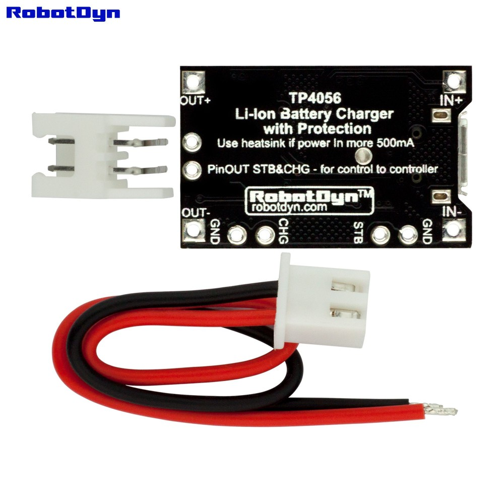 Robotdyn Tp4056 Micro Usb Li Ion Charger 1a With Protection Battery Tiny Charging Circuit To Build Of Lithium