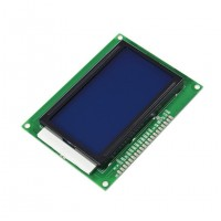 LCD Display 128*64 pixels with white pixels and blue backlight