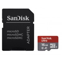 Sandisk Ultra 16GB Class 10 UHS-I A1 microSD card with SD-card adapter