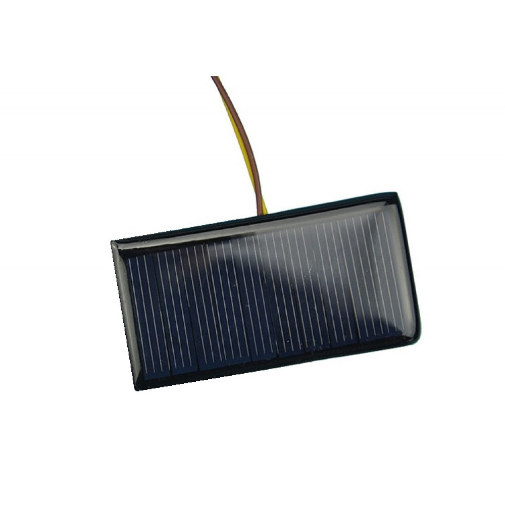 Solar Panel 5v 60ma 68x37mm With Wires Solarpanel5v60ma