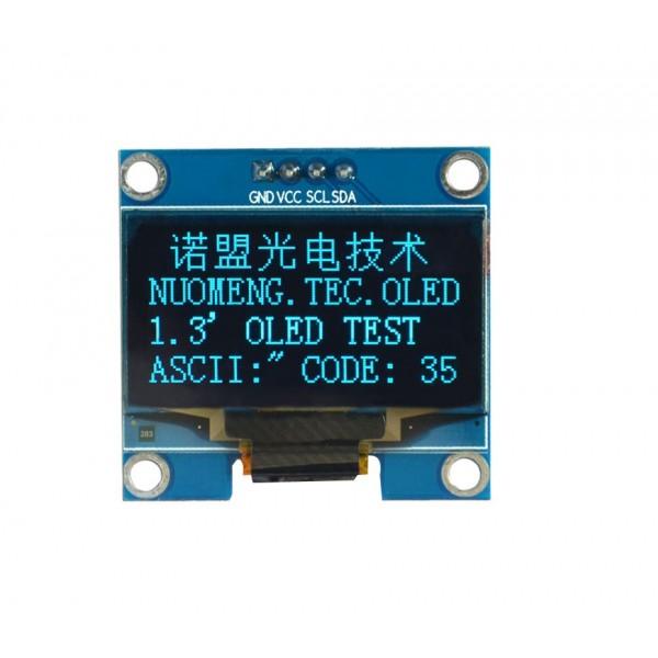 1.3 inch OLED Display 128*64 pixels blue - I2C