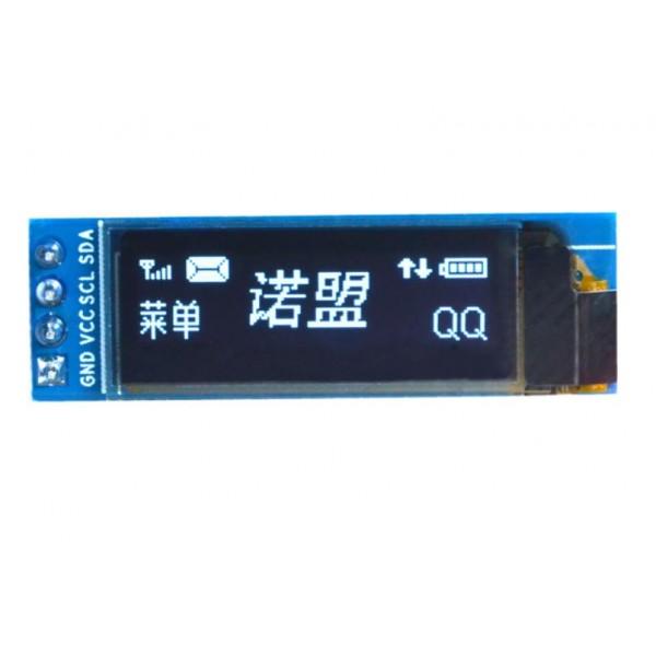 0.91 inch OLED Display 128*32 pixels white - I2C