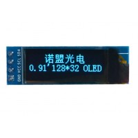0.91 inch OLED Display 128*32 pixels blue - I2C