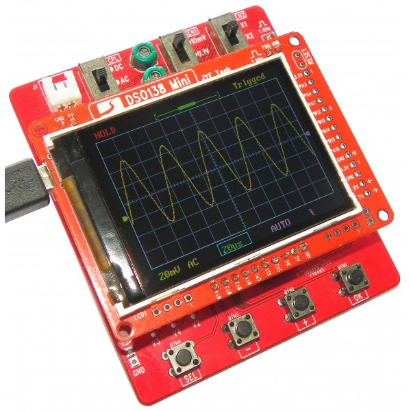 JYE Tech DSO138 Mini - Portable Oscilloscope - DIY kit
