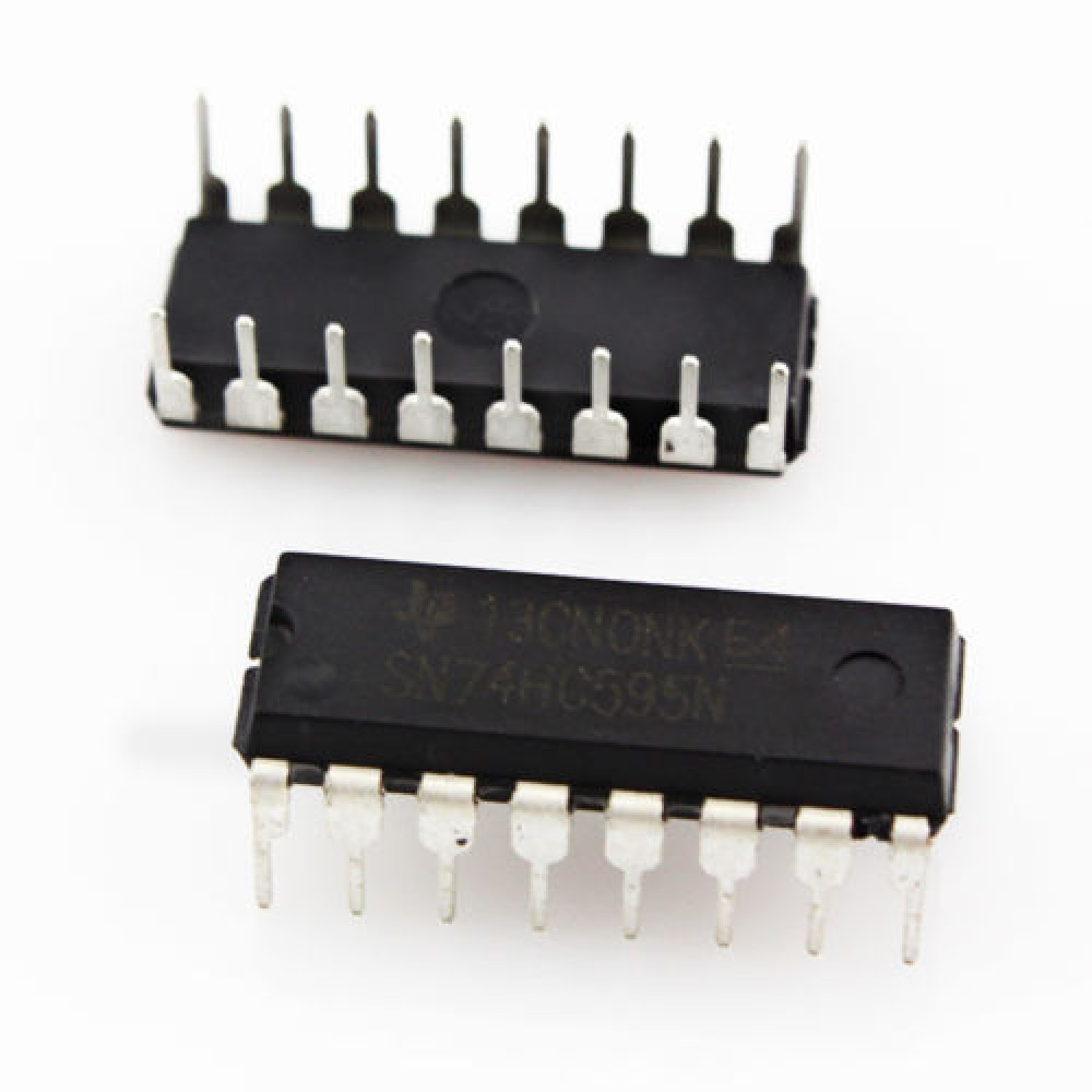 74HC595 Shift Register 8 Outputs 16-pin DIP
